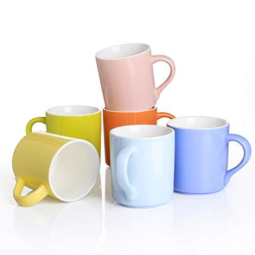 Panbado 6 Tazas de Cerámica de Café/Té Juego de Tazas de Porcelana...