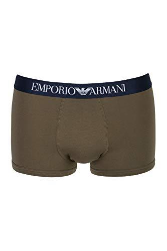 Emporio Armani Underwear Herren Men's Knit Trunk Badehose, Grün (KAKI 01981), Large (Herstellergröße:L)