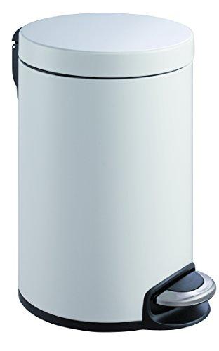 EKO Serene Poubelle à Pédale Métal Blanc 45,5 x 29,2 x 45,5 cm 20 litres