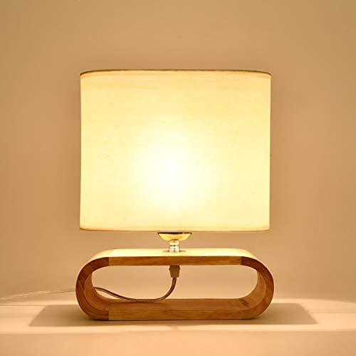 Xin Lámpara De Mesa De Madera LED De Mesita De Noche De Estilo Nórdico, Personalidad Creativa, Elegante Y Cálida Sala De Estar Lámpara De Mesa De Madera De Estudio, Tamaño 24x10x30cm Xin