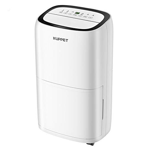 KUPPET Dehumidifier 45 Pints for up to 3000 Sq. Ft - with 5.5L Water Tank - Humanized Features for Large Room & Basement