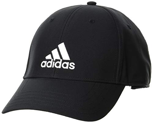 adidas Baseball Lightweight Embroidered Kappe, Black/Black/White, OSFM