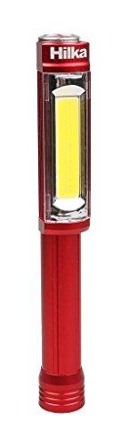 Hilka outils 82011400 4,5 W 400 lm XL COB lampe de travail de stylo avec piles – Rouge