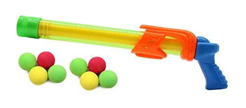 Jamara 460313 – Mc Fizz Fizzy Balls groen – 2-in-1 waterpistool met zachte ballen, water spuiten of ballen schieten, pompsysteem, gemakkelijk te bedienen, sproeibereik: ca. 7 m. Balbereik ca. 9 m.