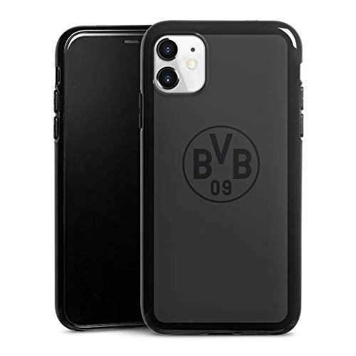 DeinDesign Silikon Hülle kompatibel mit Apple iPhone 11 Case schwarz Handyhülle Borussia Dortmund Logo BVB