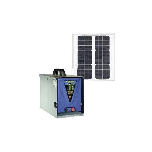 Pastor eléctrico solar CORRAL SUPER A 100 M, Batería, 12V, Incluye Pinzas...