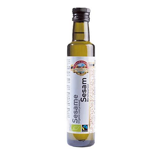 Bio Fairtrade Sesamöl Sesam Öl kaltgepresst, extra virgin 250 ml hergestellt aus usbekischem Bio Sesam
