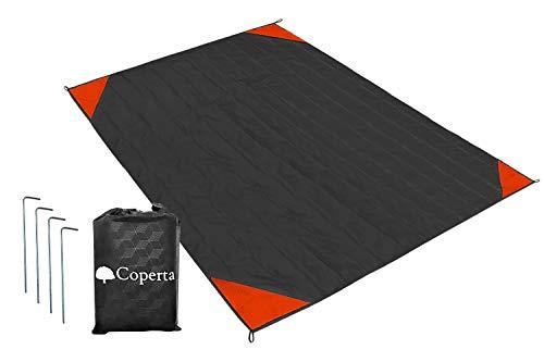 Coperta (コペルタ) レジャーシート シート 200 x 170 グランドシート 防水 【大判 軽量 コンパクト 持ち運び袋・ペグ付き】