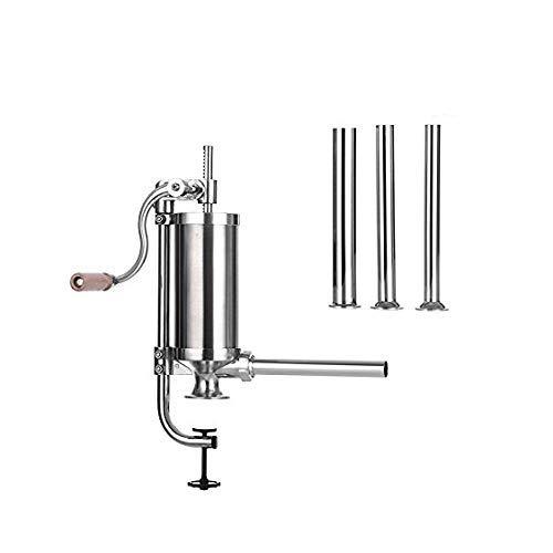 Hausgemachte Wurstfüller Mit 4 Edelstahl Fülltrichter Vertikale Wurst Spritze Kommerzielle Wurst Maker 3,0 KG / 3L