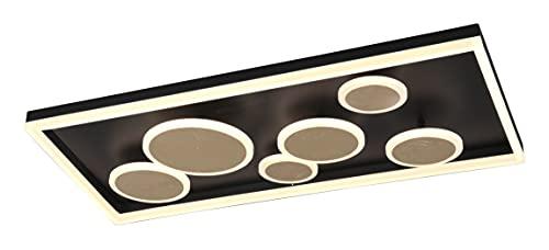 Trio Leuchten LED Deckenleuchte Harriet 671710779, Metall GoldoderSchwarz, inkl. 45 Watt LED, Switch Dimmer mit Farbwechsler