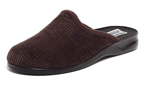 Dynamic24 Herren Cord Hausschuhe Wörishofer Slipper Schuhe Pantoletten Pantoffel Komfortschuhe BRAUN Gr. 41
