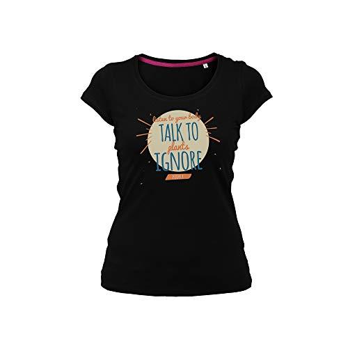 Wild Soul Tees DamesT-shirt Luister naar je lichaam | Praat met planten | Mensen negeren | Lettering Design | Logo | Kleding | Kledingslijn