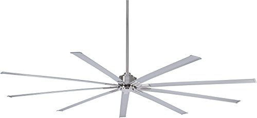 Minka-Aire F887-96-BN, Xtreme 96' Ceiling Fan, Brushed Nickel Finish with Silver Blades