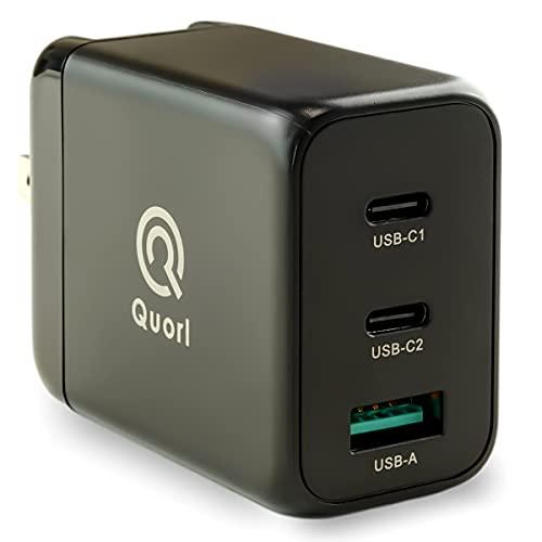 Quorl(クォール) PD 急速 充電器 65W Type-C GaN 窒化ガリウム USB-A USB-C 3ポート 折畳式 acアダプター 1