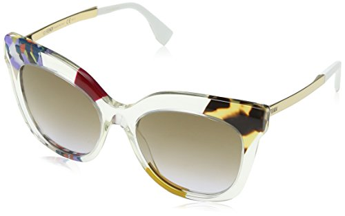 FENDI FF 0179/S LW TKW Gafas de sol, Morado (Hnyvltptt Gd/Brown Violet Ds), 53 para Mujer