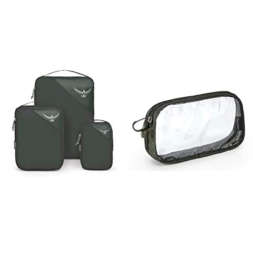 Osprey Ultralight Packing Cube Set - Shadow Grey (S/M/L) & Washbag Carry-on - Shadow Grey
