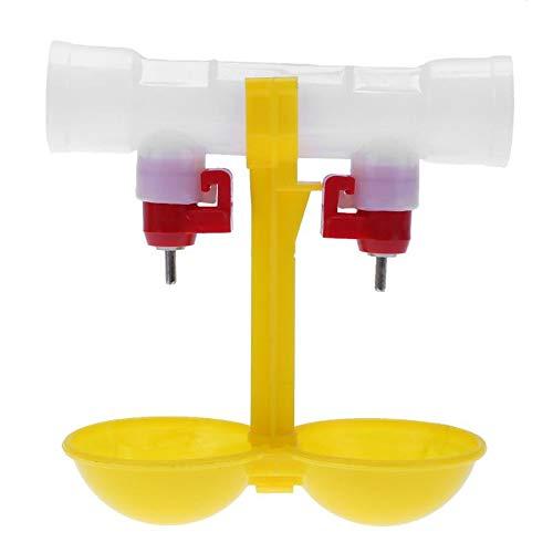 ZZWEJ Alimentador automático de gallineros de Aves Pájaro Bebedero de Pollos Tazas de Agua Bebederos para Pollos Alimentador Comedero para pájaros