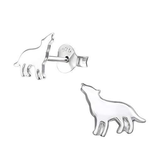 Sterling Silver Wolf Gift Earrings
