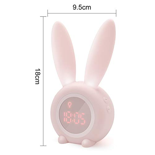 Homealexa Réveil Matin à Induction en Forme de Lapin Mignon, Intelligent Réglage Automatique de...