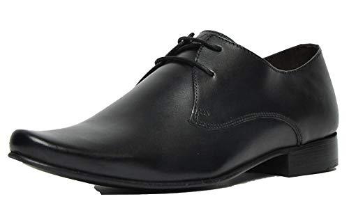 Ikon Classic Arnie Cuero Hombre Zapatillas Casuales Oxford Negro 41
