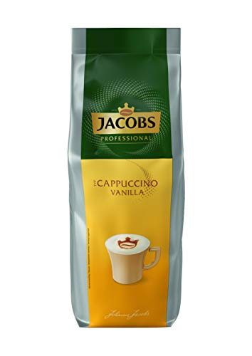 Jacobs Professional Cappuccino Vanilla, 1000g, Instant Kaffee, milchiger Cappuccino mit feiner Vanillenote