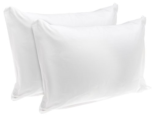 American Textile Rest Right 100% Cotton Zippered Pillow Protectors, Set of 2 - Zippered Pillow Covers Extend Pillow Life, Keeping Pillows Fresh and Clean, King Sized