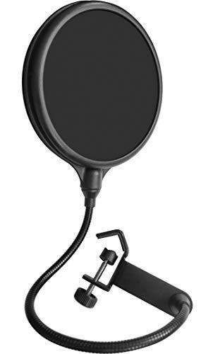 Mikrofon Pop Filter Pop Schutz PROFESSIONELL, 360 Grad flexible Halterung