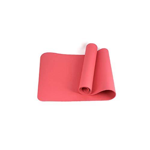 LUSTAR Estera de Yoga Estera de Yoga Antideslizante, para Aeróbicos y Acampar Tamaño 183cm * 80cm * 0.8cm,Red