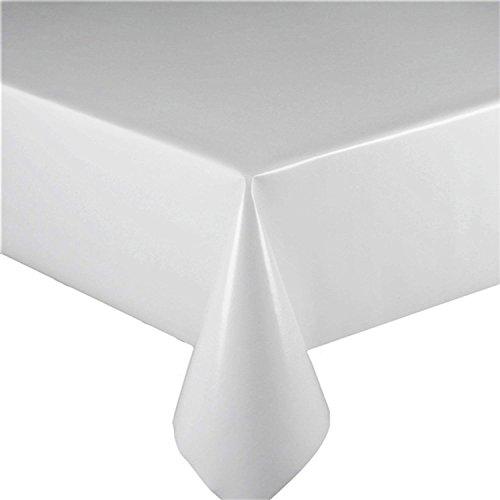 2metros (200cm x 137cm) mantel de vinilo, y de color blanco para adaptarse a hasta una mesa de 6plazas tamaño rectangular, limpiar, textil con (263)