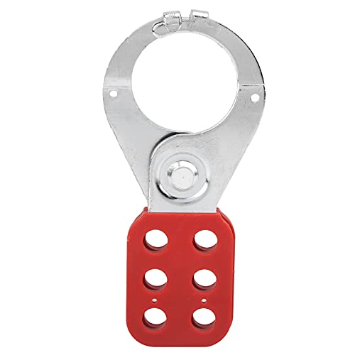 Tagout Hasp, Radiation Resistant Padlock Hasp Portable Steel with Six Hole for Industry for Security