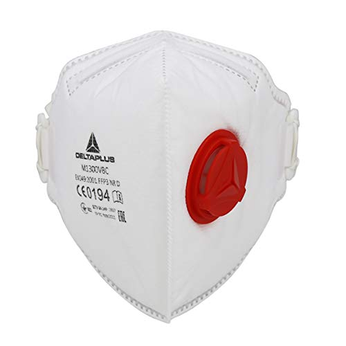 Filtro Mascarilla FFP3 con Válvula, Mascarilla Desechable Antipolvo Mascarilla con Filtro 99% Máscara de Respiración con Filtro de Carbón Activado Mascarilla de Seguridad Protección (1PCS)