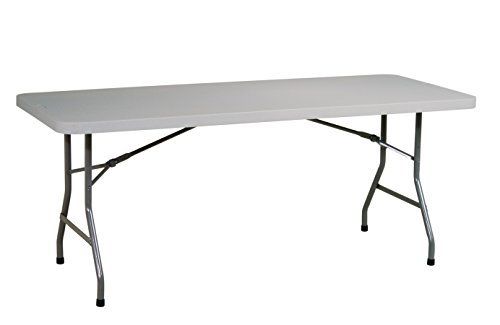 Office Star Resin Multipurpose Rectangle Table, 6-Feet Long