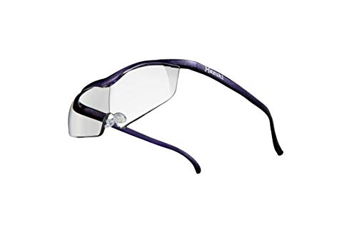 Hazuki ハズキルーペ 直営店 公式店 限定 倍率交換保証付き ラージ 1.85倍 クリアレンズ 紫 ハズキ 拡大鏡 ルーペ メガネ型 眼鏡型 めがね型 メガネ 眼鏡 めがね 日本製 MADE IN JAPAN ギフト プレゼント