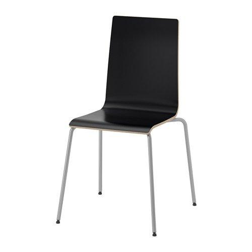 IKEA Stapelstuhl 'Martin' stapelbarer Stuhl in schwarz, Stahlgestell - BxTxH: 49x52x86 cm - STAPELBAR