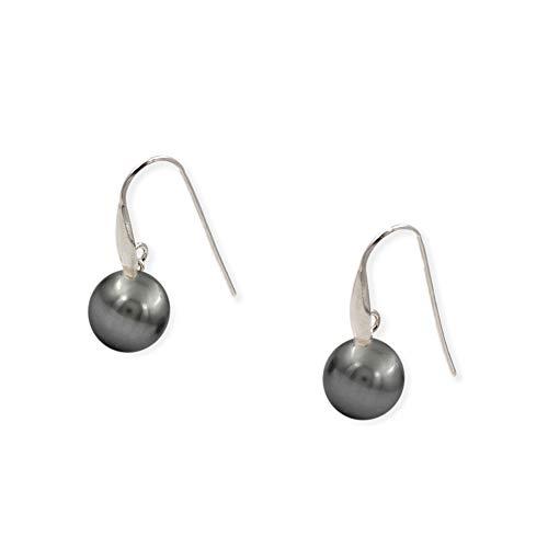 Pendientes de plata con perla Swarovski (Plata)