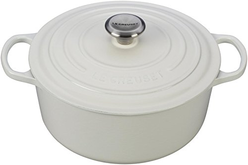 Le Creuset Enameled Cast Iron Signature Round Dutch Oven, 5.5 qt., White