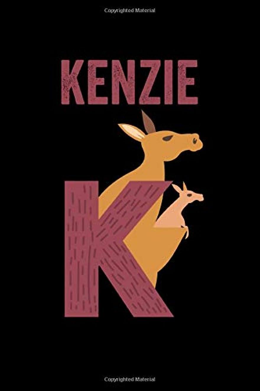 旅テクトニック役割Kenzie: Journal (Diary, Notebook) Personalized Custom Name Alphabet Kangaroo Birthday Gift for Girls