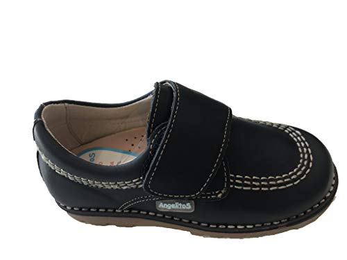 Zapato kikers angelitos Mod, 100% Piel,fabricacion Nacional (34 EU, Chocolate)