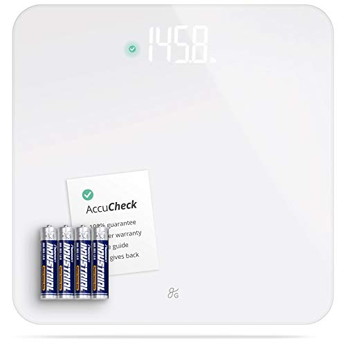 AccuCheck Digital Body Weight Scale from Greater Goods, Patent Pending Technology (White)
