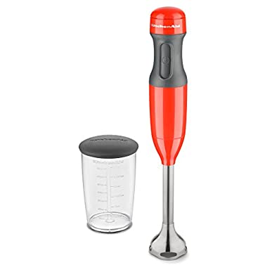 KitchenAid KHB1231HT 2-Speed Hand Blender, Hot Sauce