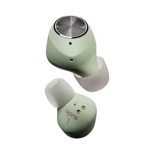 Sudio T2 True Wireless In-Ear Kopfhörer mit Bluetooth 5.2, Active Noise Cancelling, Integriertes Mikrofon, Bis Zu 35 St&en Spielzeit, Schnellladung, Schweiß- & Spritzwassergeschützt (Jade)