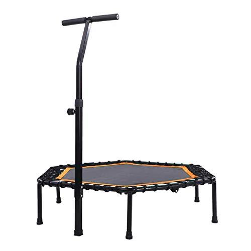 Alta qualità Pieghevole Mini Esercizio trampolino for adulti e bambini, fitness rimbalzista Trampolino con manico regolabile bar  Tranquillo e sicuro trampolino Bungee corde Bouncer for palestra / cas