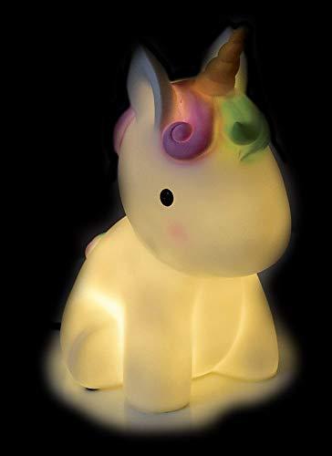 FUN HOUSE 713115 Licorne Lampe d'ambiance pour Enfant, Blanc