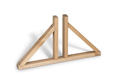 Weidenprofi Standfuß aus Holz für Raumteiler, Aufsteller für Modell Paravent Elegant und Paravent Solid