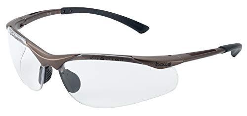 Bollé Safety 253-CT-40044 - Gafas de seguridad con montura de nailon semirreborde y lente transparente antivaho