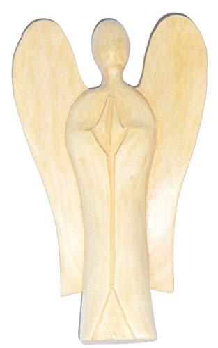 Sculpture ange gardien en bois holzfigur 16 cm by Asia Design