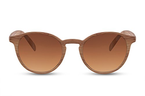 Cheapass Gafas de Sol Cafes Madera Ventage Mujer Hombre