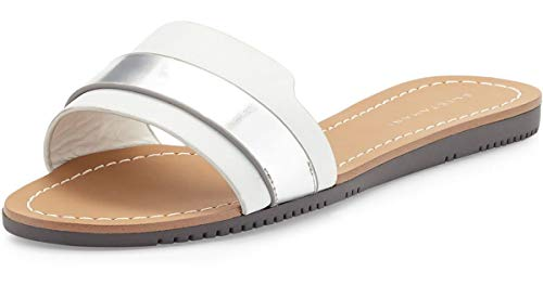 Elie Tahari Negril Leather Slides (7) White