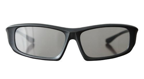 Ultra 2 Pairs of Black Adults Passive 3D Glasses Men Women Polorized Wraparound For Use with RealD Movies Cinemas TVs and Projectors