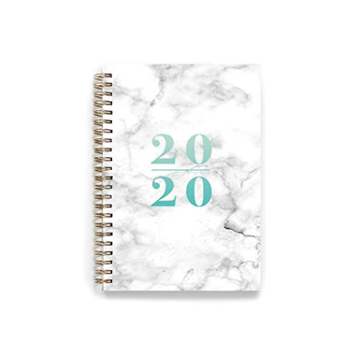 "2020 KIT Lite Weekly Planner - Chic Women�s Organizer with Monthly Calendar � Spiral Bound Appointment Book � Schedule Your Business Day � Agenda with Premium Paper, 5.5 x 8"", Marble"